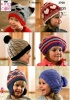 Knitting Pattern - King Cole 3700 - Aran - Childs Hats