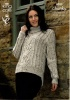 Knitting Pattern - King Cole 4035 - Chunky Tweed - Ladies Sweaters