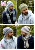 Knitting Pattern - King Cole 4618 - Drifter Chunky - Mens Hats