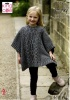 Knitting Pattern - King Cole 5292 - Chunky Tweed - Child's Tabards & Hat
