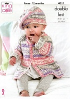 Knitting Pattern - King Cole 4011 - Cherish DK - Baby Set