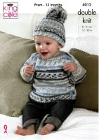 Knitting Pattern - King Cole 4012 - Cherish DK - Baby Set