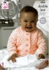 Knitting Pattern - King Cole 4396 - Baby Glitz DK - Cardigans & Blanket
