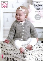 Knitting Pattern - King Cole 5334 - Comfort DK - Baby Cardigans and Sweater