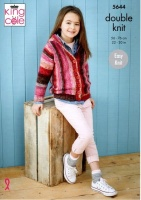 Knitting Pattern - King Cole 5644 - Bramble DK - Hoodie & Cardigan