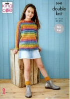 Knitting Pattern - King Cole 5645 - Bramble DK - Sweater & Hoodie