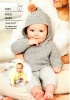Knitting Pattern - Rico 1037 - Baby Dream DK Uni - Baby Hooded Sweater & Cardigan