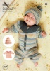 Knitting Pattern - Rico 976 - Baby Dream DK - Onesie, Dress and Hat