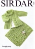 Knitting Pattern - Sirdar 4941 - Snuggly 4 Ply - Baby Girls Matinee Coat and Blanket