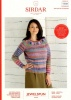 Knitting Pattern - Sirdar 10025 - Jewelspun Aran - Drape Cardigan