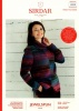 Knitting Pattern - Sirdar 10030 - Jewelspun Aran - Two-Tone Sweater