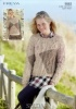 Knitting Pattern - Sirdar 9883 - Freya - Sweaters