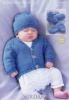 Knitting Pattern - Sirdar 1365 - Snuggly DK - Cardigan, Hat, Bootees & Mittens