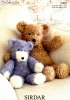 Knitting Pattern - Sirdar 2466 - Touch - Bears