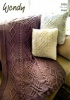Knitting Pattern - Wendy 5956 - Aran with Wool - Throw and Cushion