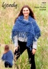 Knitting Pattern - Wendy 5967 - Serenity Super Chunky - Crochet Shawl