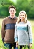 Knitting Patterns - Wendy 5947 - Ramsdale DK - Family Fairisle Sweater