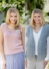 Knitting Patterns - Wendy 5992 - Fleur DK - Cap Sleeve Jacket and Sleeveless Top
